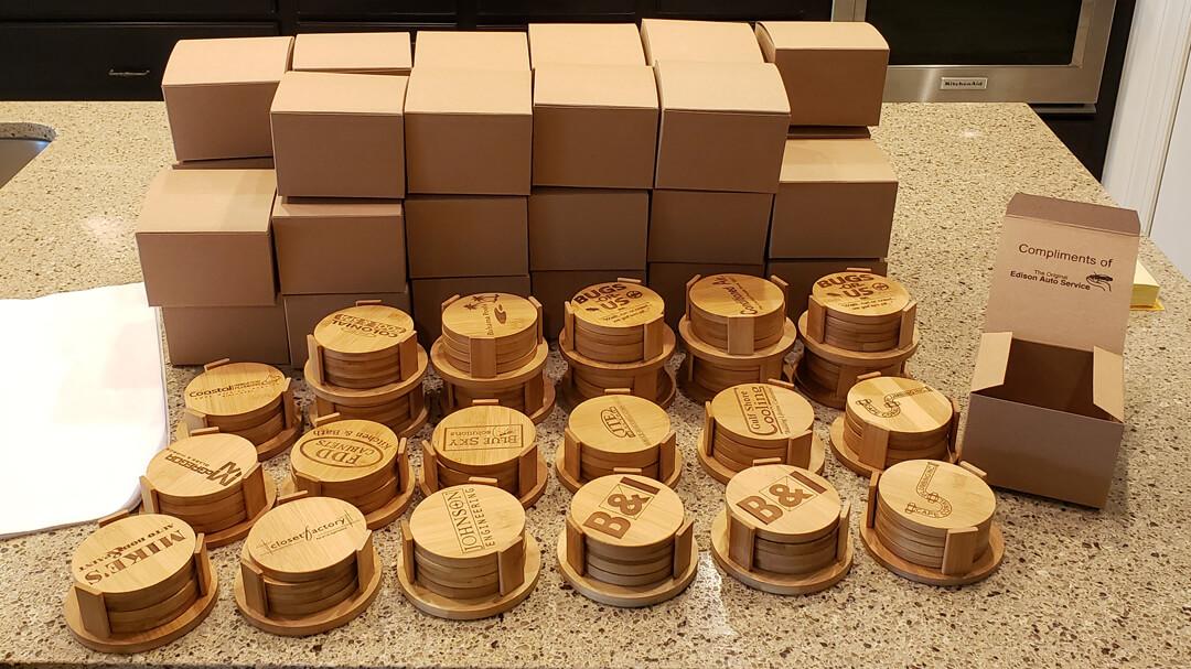 Laser Engraved Coasters Roundup