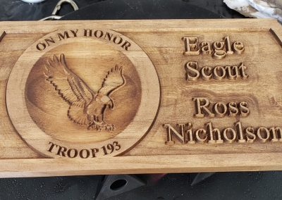 eagle scout wood plaque