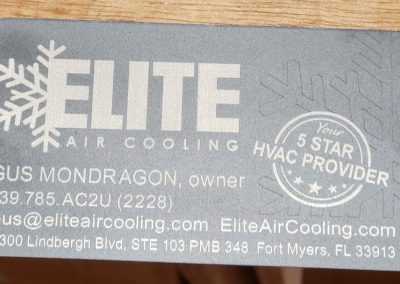 elite laser business card