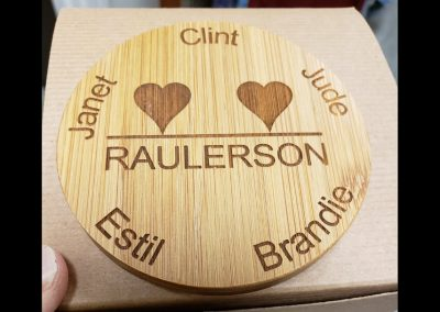 family coaster lasering project