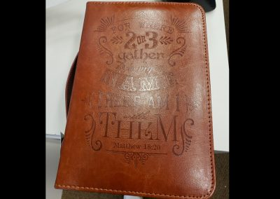 laser marked wallet