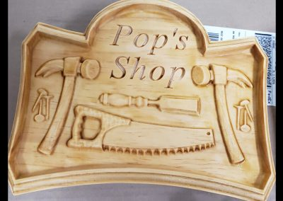 pops shop wooden carving