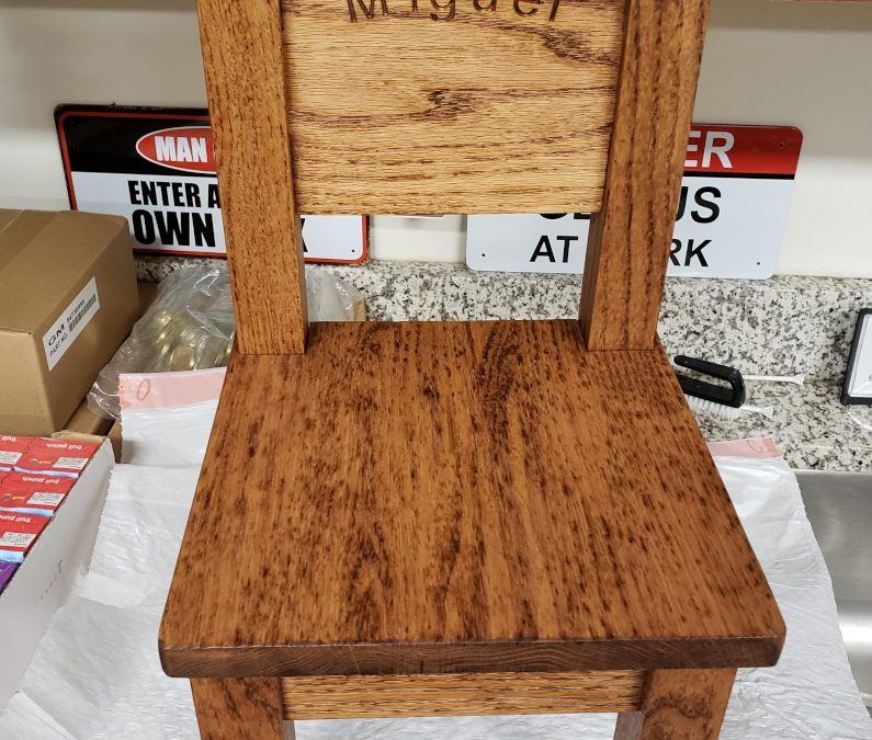Childs Wooden Chair Project