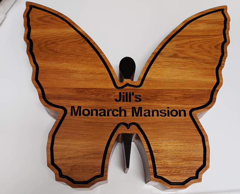 CNC Machine Wooden Butterfly