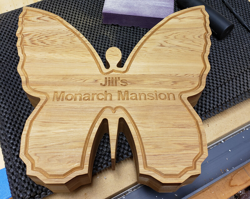 cnc wood carving butterfly