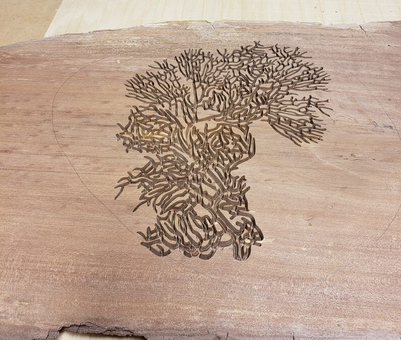 CNC Wood Carved Slab
