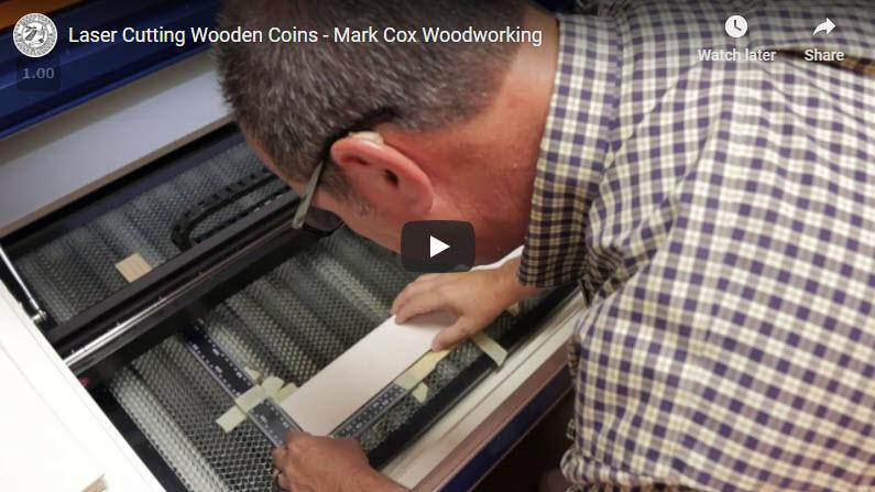 Laser Cutting Wooden Coins