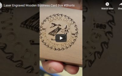 Laser Engraved Wooden Business Card Box