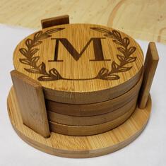 laser engraved m coaster