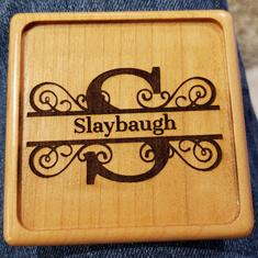 laser engraved slay