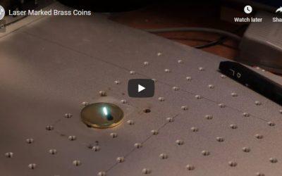 Laser Marked Brass Coins