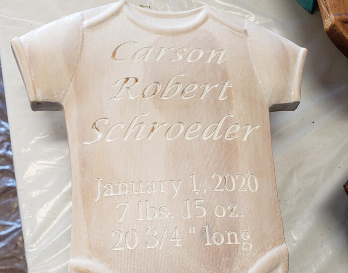 woodworking baby gift unfinished